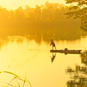 Golden Hour in my Country by Andi Irawan - Landscapes Sunsets & Sunrises ( indonesia, human interest, sunrise, landscape, golden hour )