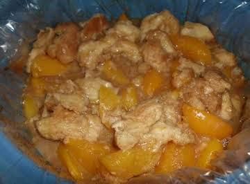 Honey Butter Crockpot Peach Cobbler