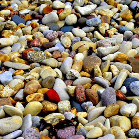The Red Stone by MarySue Price - Nature Up Close Rock & Stone ( stone, pebbles, lake, beach, stones, rocks )