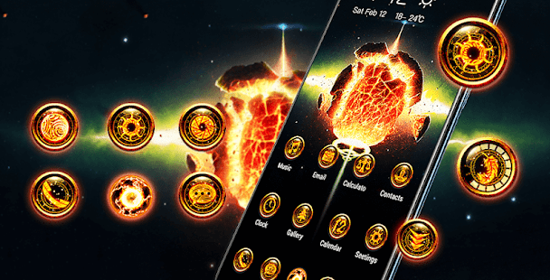 Planet Explosion Flame Galaxy Theme 2019 12