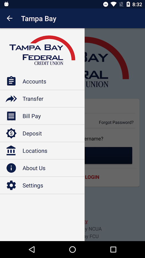 Tampa Bay Federal Credit Union- screenshot