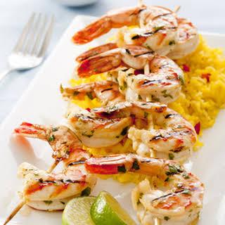 Cilantro Grilled Shrimp.