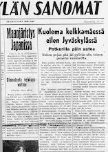 Photo: Kuolema kelkkamäessä 27.10.1950