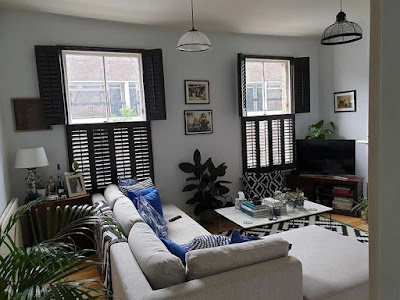Tier on tier Montana Range black-walnut Plantation Shutters