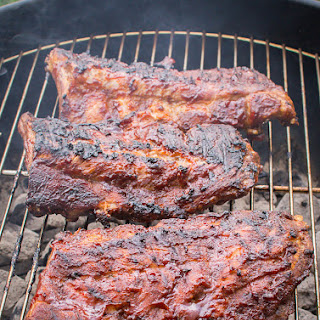 Perfect Fall Off the Bone Grilled Sweet BBQ Baby Back Ribs.