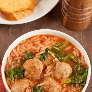 Meatball and Escarole Soup.