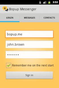 Bopup Messenger - náhled