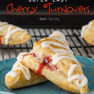 Super Easy Cherry Turnovers.