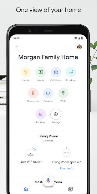 Google Home Android App Screenshot