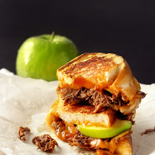 Pulled Pork & Apple Grilled Cheese