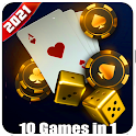 10 3D-Games in 1 Poker Solitaire Card puzzle games icon