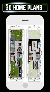 Morden 3D Plan Home Blueprint Interior Planner New - náhled