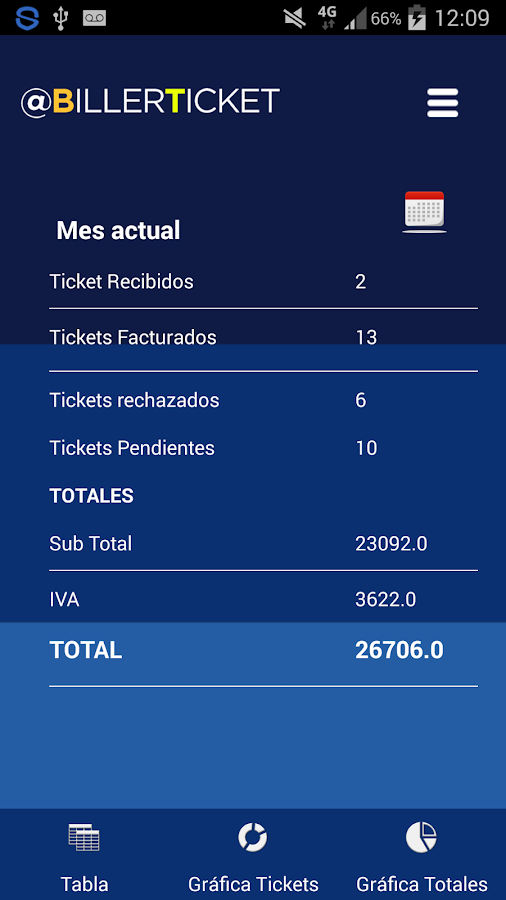 BillerTicket- screenshot