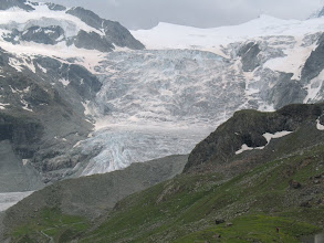 Photo: Moiry ice fall and glacier