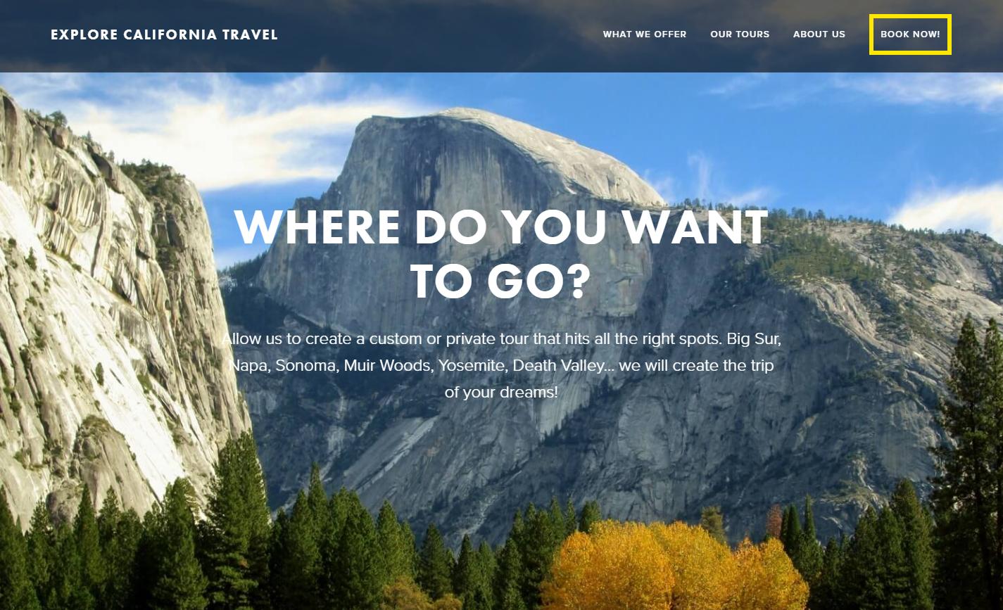 explore california travel website