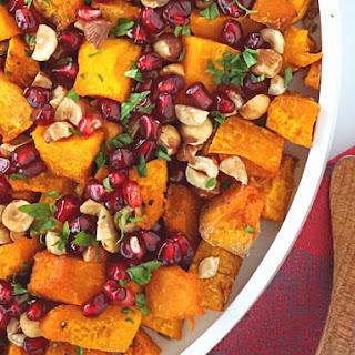 Roasted Squash with Hazelnuts and Pomegranate Recipe