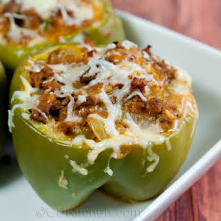 Ground Beef Stuffed Bell Peppers Without Rice Recipes.