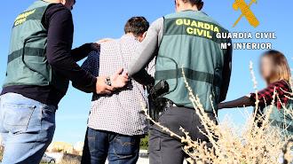 Uno de los detenidos, en una imagen remitida por la Guardia Civil.