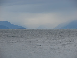 Photo: Looking north up Chilkoot Inlet on a stormy day.