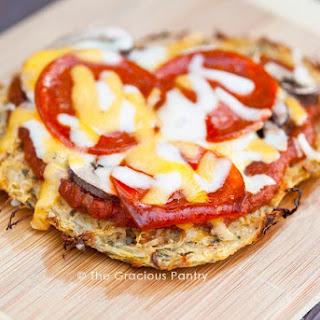 Clean Eating Single Serving Spaghetti Squash Pizza Crust Recipe
