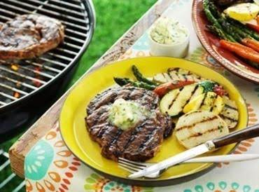 Grilled Ribeyes With Horseradish Garlic Butter Sau Recipe