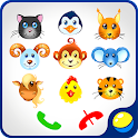 Kids baby phone with animals icon