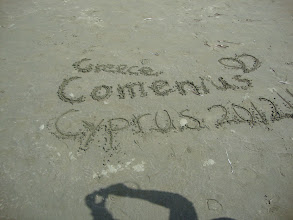 Photo: Writing on the sand