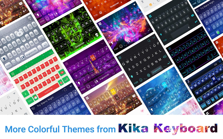 Neon-Light-Emoji-Kika-Keyboard 14