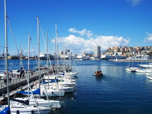 Blu intenso al porto di Genova di cicealix