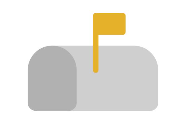 Gold mailbox icon