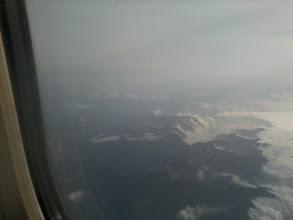 Photo: De Alpen vanuit het vliegtuig.