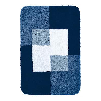 Коврик для ванной комнаты Coins синий 60*90 Ridder