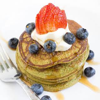 4-Ingredient Matcha Green Tea Pancakes.