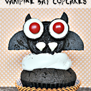 Halloween Vampire Bat Cupcakes Recipe