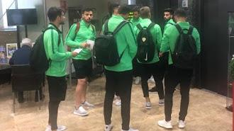 Los jugadores del Almería en su hotel de concentración.
