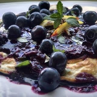 Lemon and Blueberry Pancakes.