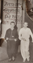 Photo: Zatopek und Gruber in Sao Paulo