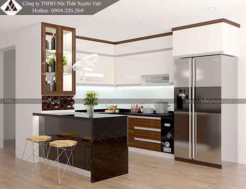 Mẫu tủ bếp đẹp bằng nhựa hình 15