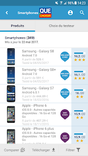 Tests comparatifs Capture d'écran