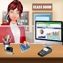 High School Pro Cashier Girl: Bank Cash Register icon