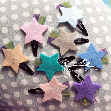 shooting stars hair clip