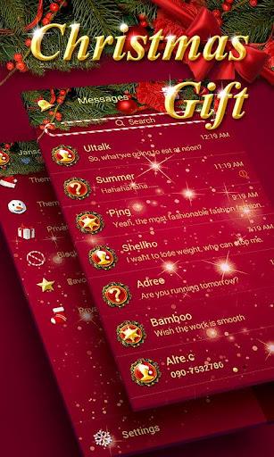 GO SMS CHRISTMAS GIFT THEME