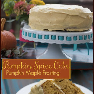 Pumpkin Cake with Pumpkin Maple Cream Cheese Frosting