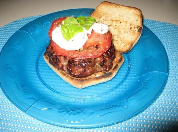 A Yummy Italian Twist On A Regular Burger.