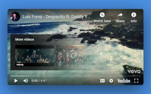 YouTube hide pause overlay