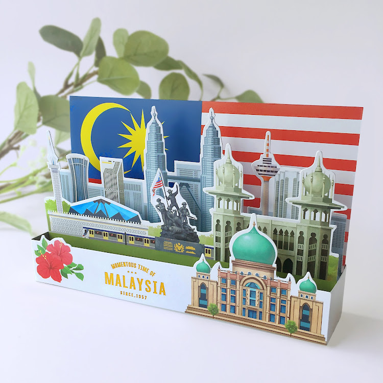 3D Greeting Card: Momentous Time Of Malaysia by Loka Made