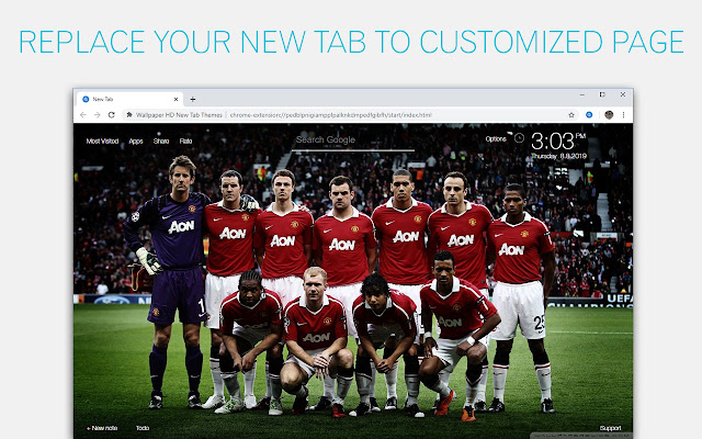 Manchester United Wallpaper Hd Custom New Tab