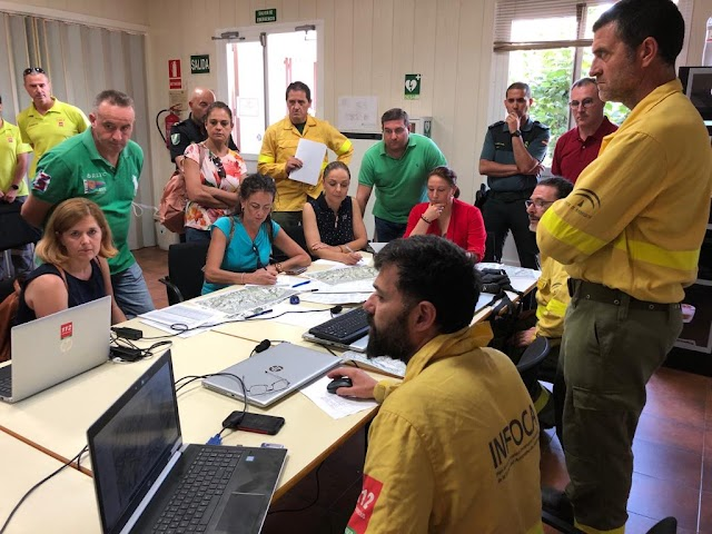 Reunión en el CEDEFO de Alhama de Almería .