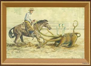"""Photo: Ropin' Cowboys3 5/8"""" X 5 1/2"""""""
