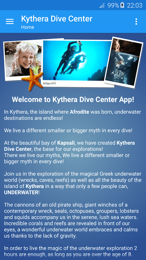 KYTHERA Dive Center- screenshot